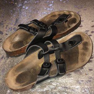 Birkenstock Women's Thong Sandal w/Leather Buckles